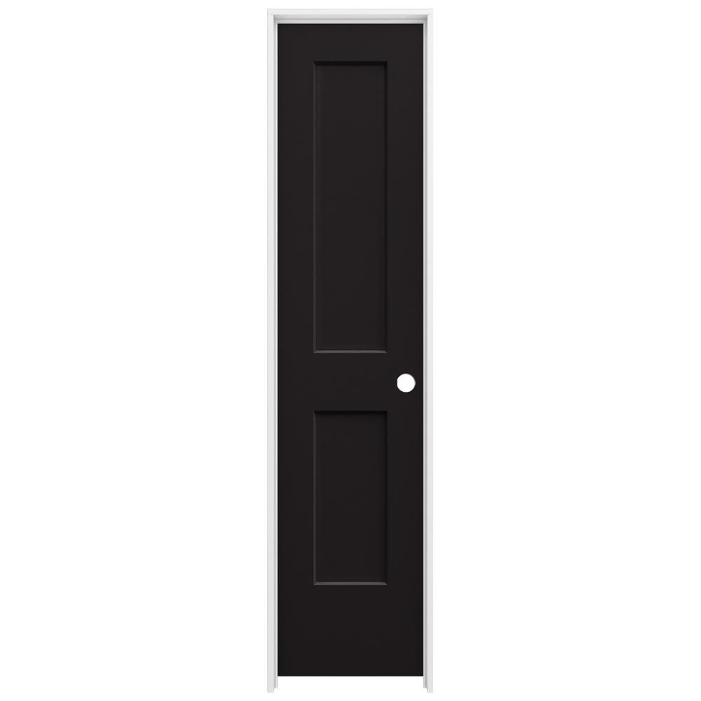 20 in. x 80 in. Monroe Black Painted Left-Hand Smooth Solid