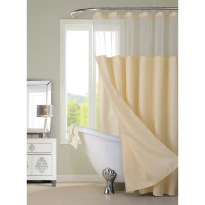 Complete 72 in. Ivory Shower Curtain