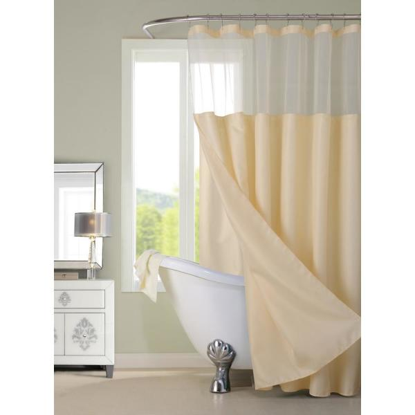 Dainty Home Complete 72 in. Ivory Shower Curtain CSCDLIV