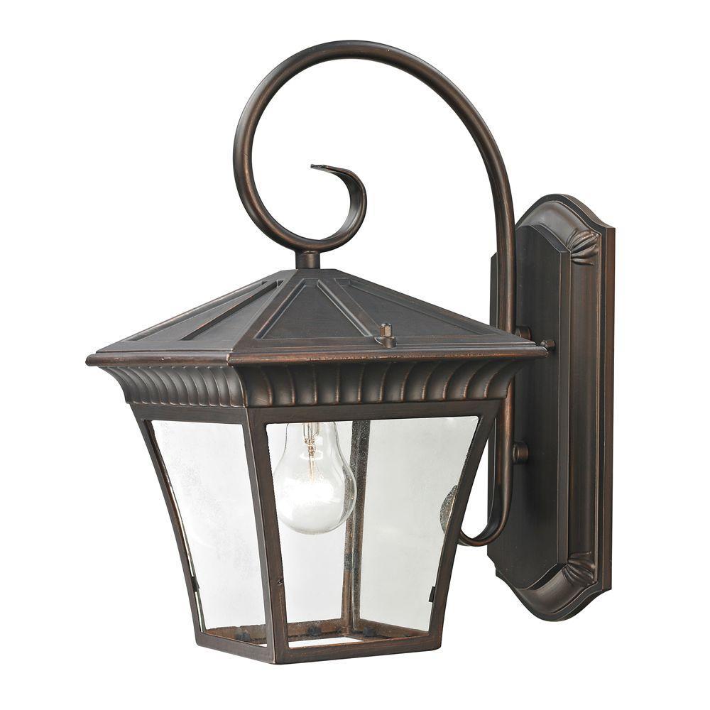 Ridgewood 1-Light Outdoor Hazelnut Bronze Sconce