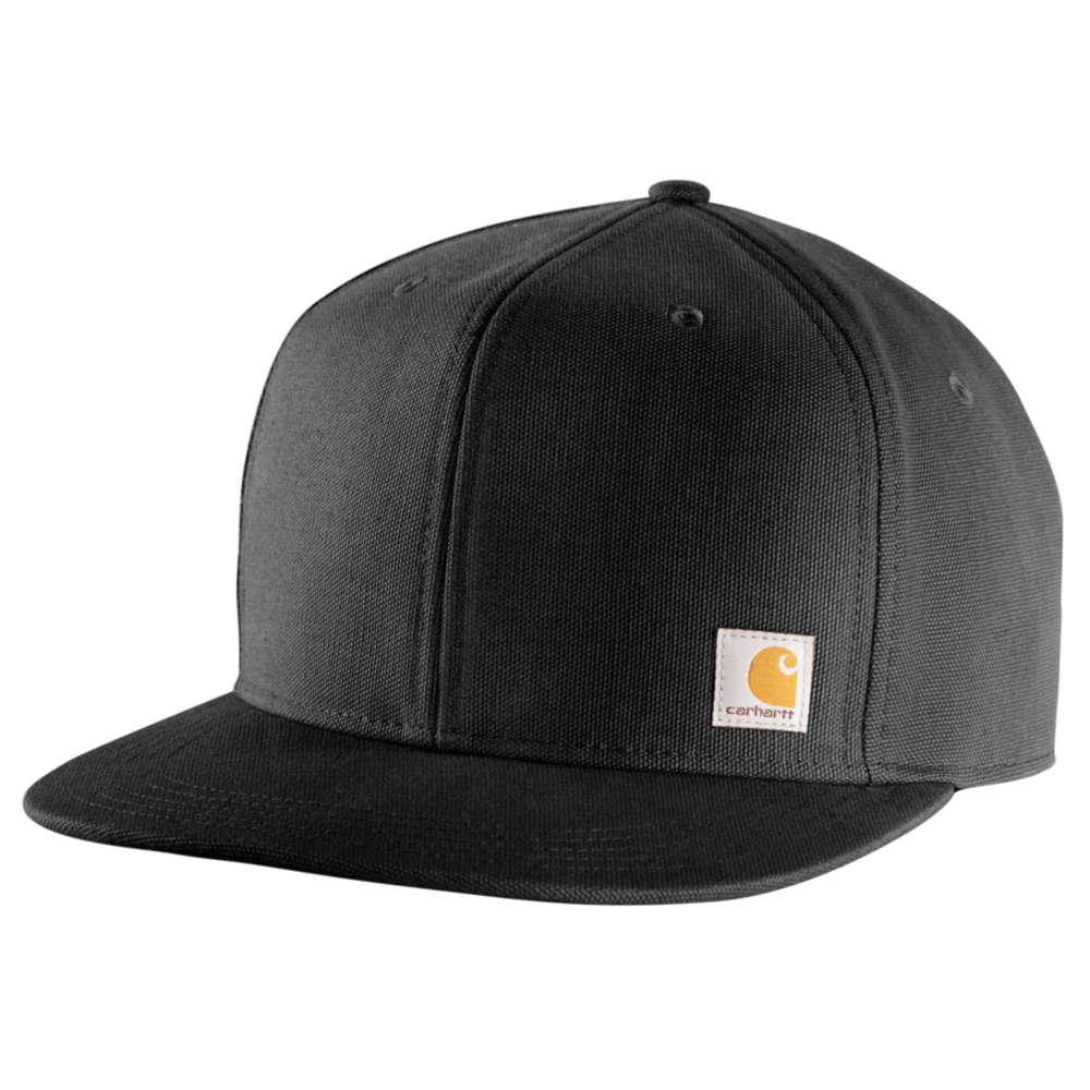 Carhartt Men s OFA Black Cotton Cap Headwear-101604-001 - The Home Depot 0eadc6dfbee