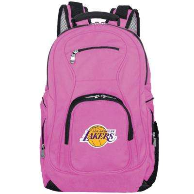 NBA LA Lakers 19 in. Pink Laptop Backpack