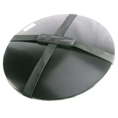 Fire Pit Cover with Carrying Handle in Black