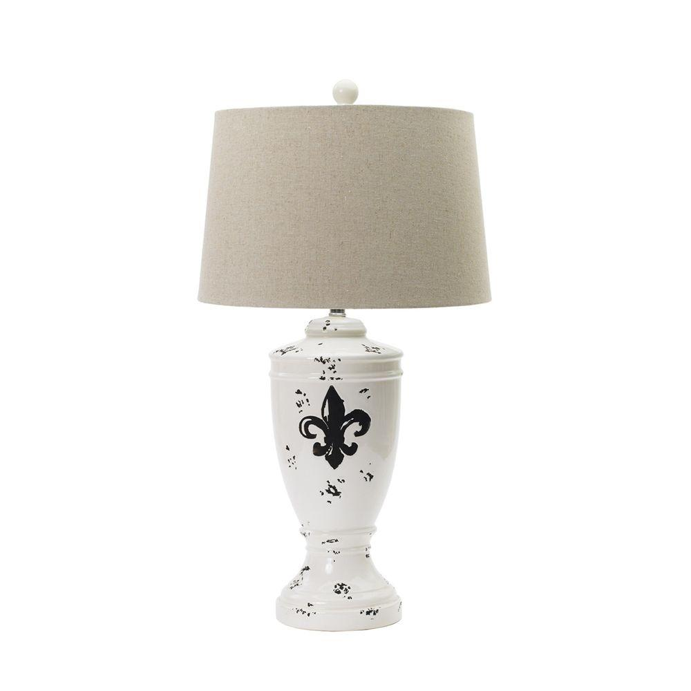 Fangio lighting 305 in shabby eggshell fleur de lis ceramic table shabby eggshell fleur de lis ceramic table lamp aloadofball Choice Image