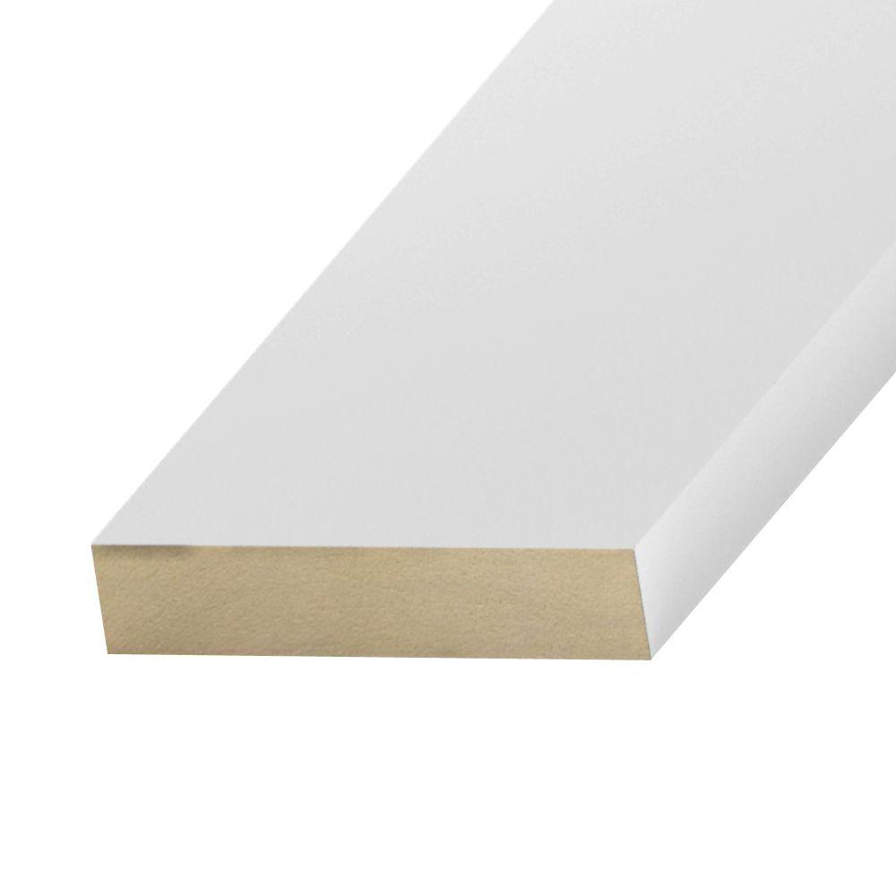 null Primed MDF Board (Common: 11/16 in. x 1-1/2 in. x 8 ft.; Actual: 0.669 in. x 1.5 in. x 96 in.)