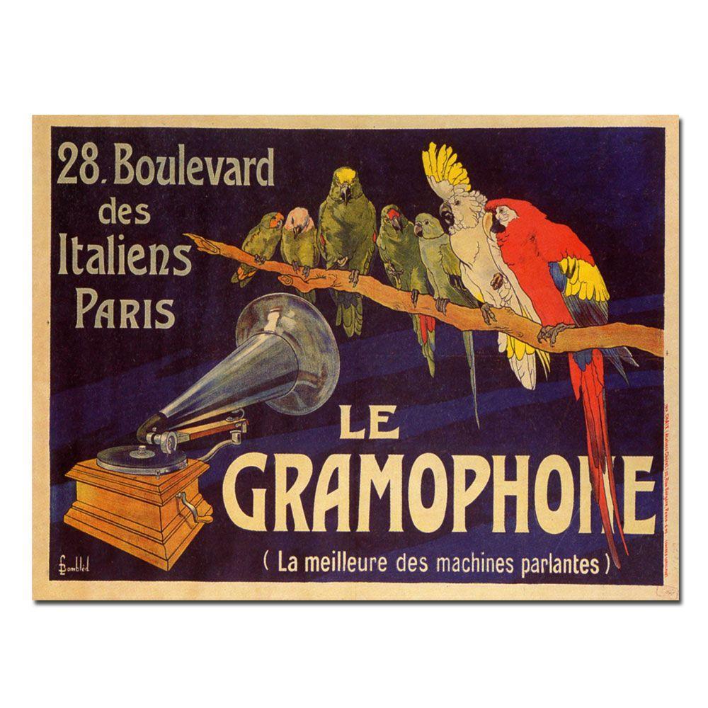 null 18 in. x 24 in. La Gramaphone Canvas Art
