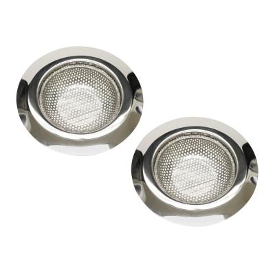 Anti-Clogging Kitchen Mesh Sink Strainer in Stainless Steel (2-Pack)