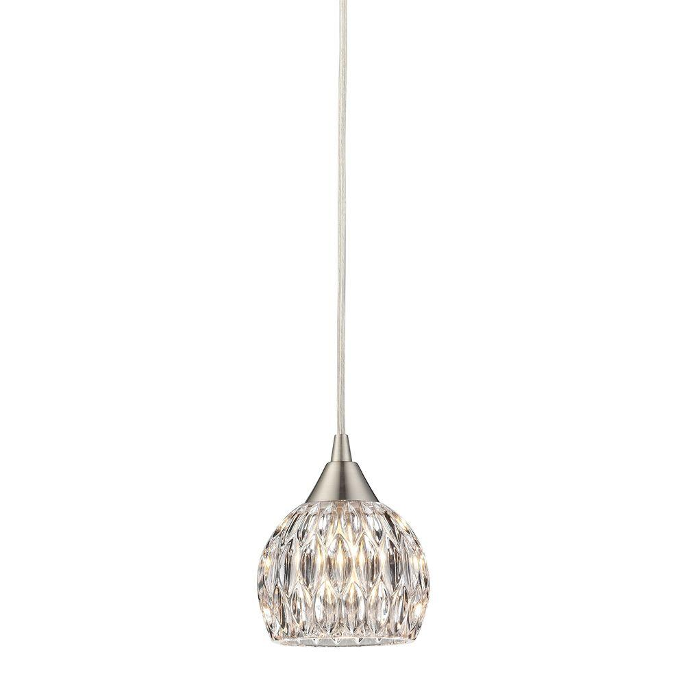 Titan lighting norgate collection 1 light satin nickel mini pendant titan lighting norgate collection 1 light satin nickel mini pendant mozeypictures