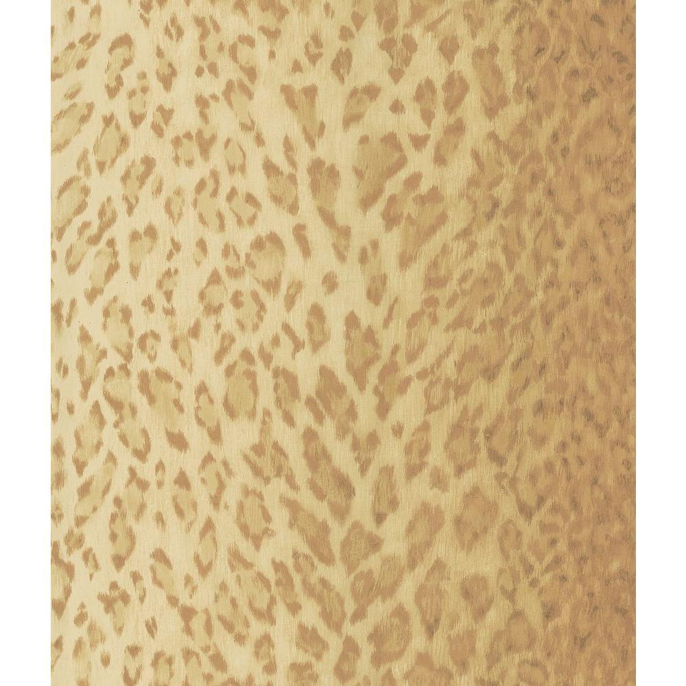 Light Brown Leopard Skin Wallpaper Sample