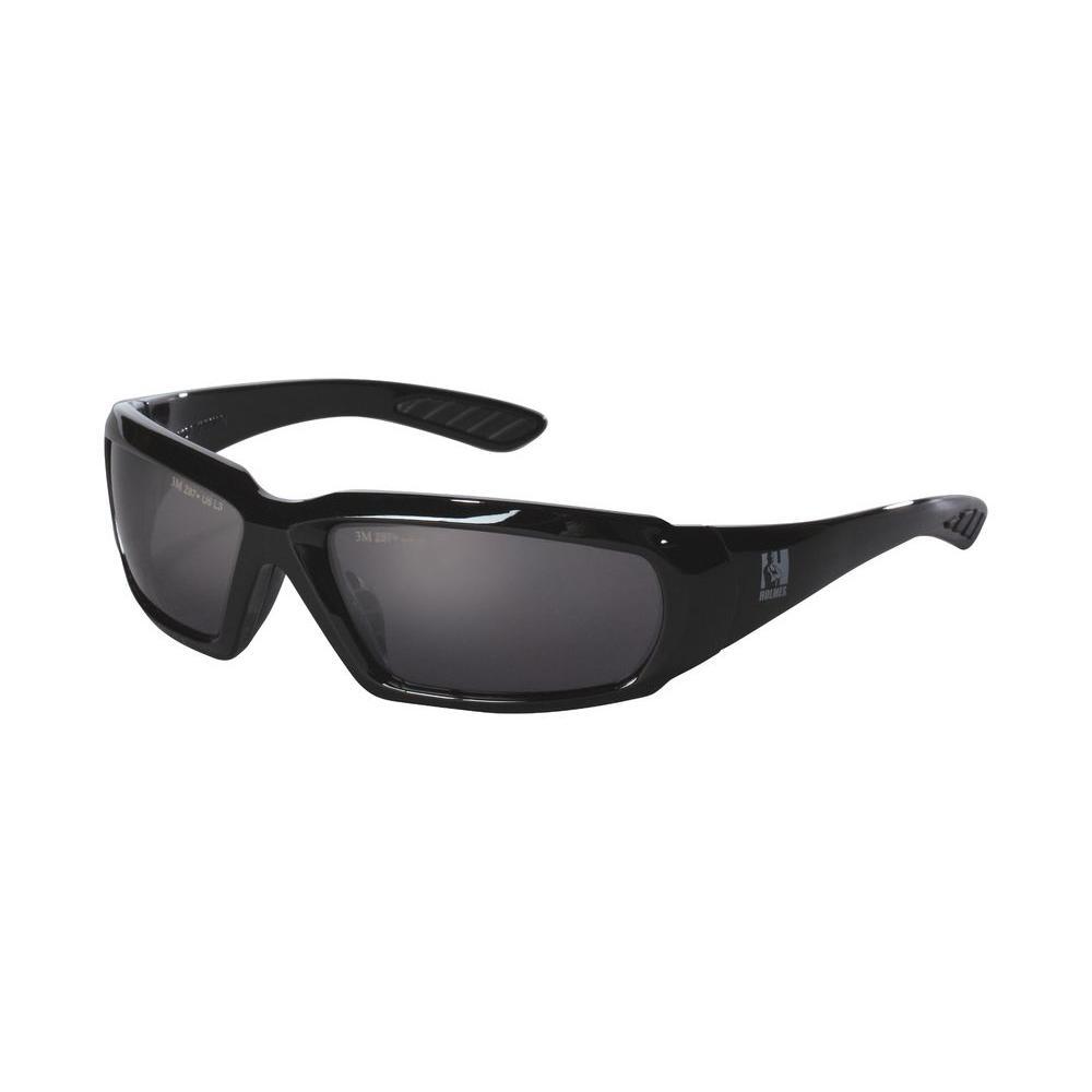 3M Holmes Workwear Black Frame with Smoke Lenses Safety Glasses