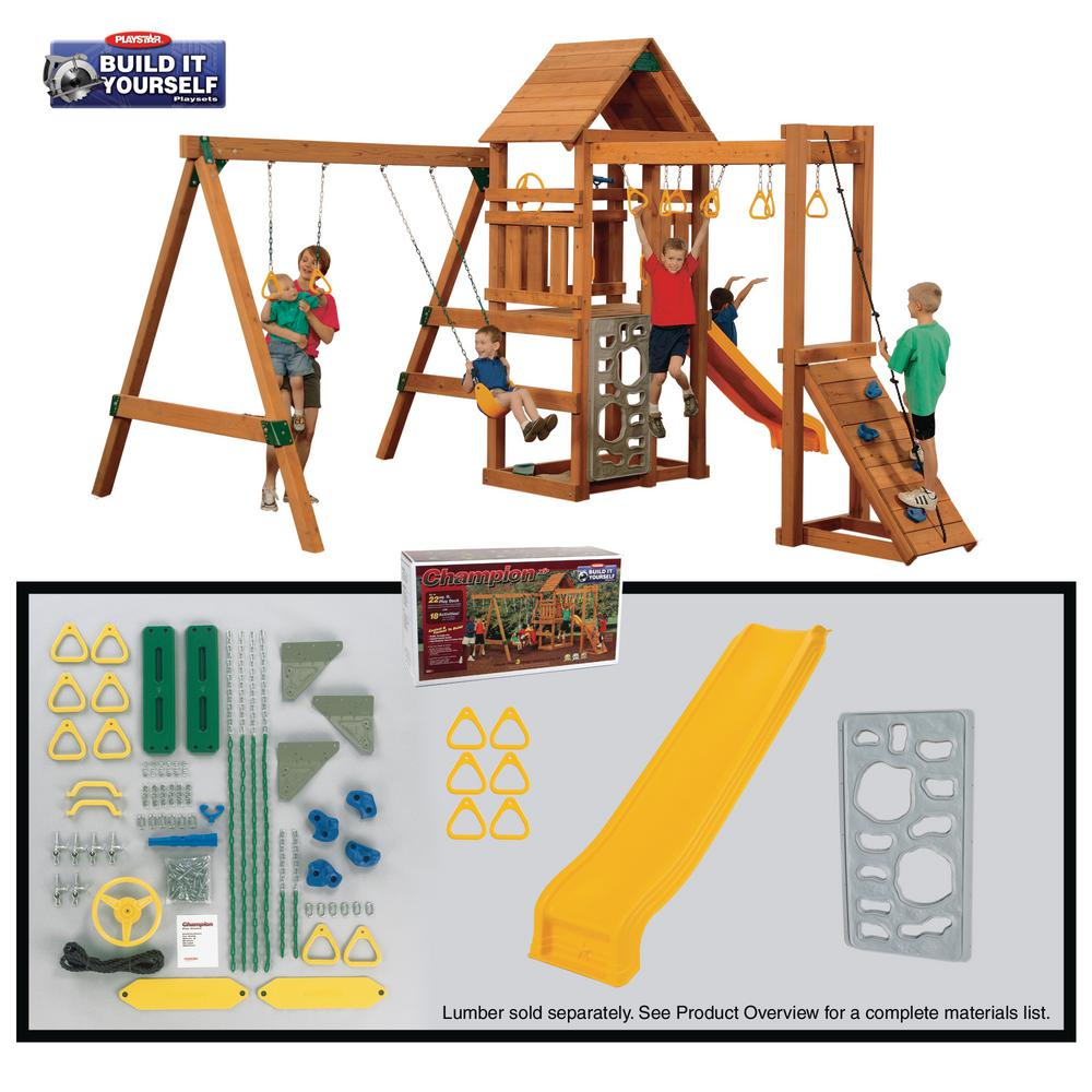 parhaat lenkkarit muutaman päivän päässä hieno tyyli PlayStar Champion Build-It-Yourself Bronze Playset (Lumber Not Included)