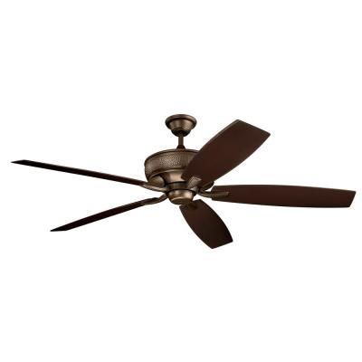 Monarch Patio 70 in. Indoor/Outdoor Weathered Copper Downrod Mount Ceiling Fan with Wall Control