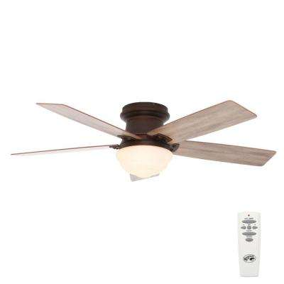 Maxwell 52 in. Indoor Mediterranean Bronze Ceiling Fan with Light Kit and Remote Control