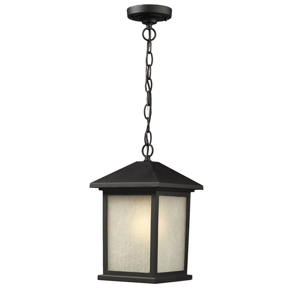 Lawrence 1-Light Black Outdoor Wall Light