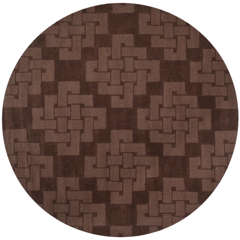 Martha Stewart Chocolate Truffle 8 ft. x 8 ft. Round Area Rug