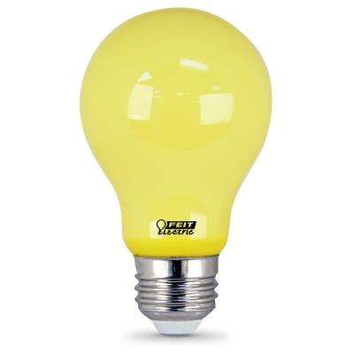 5-Watt A19 60-Watt Equivalent Medium E26 Base Non-Dimmable Yellow Colored LED Bug Light Bulb