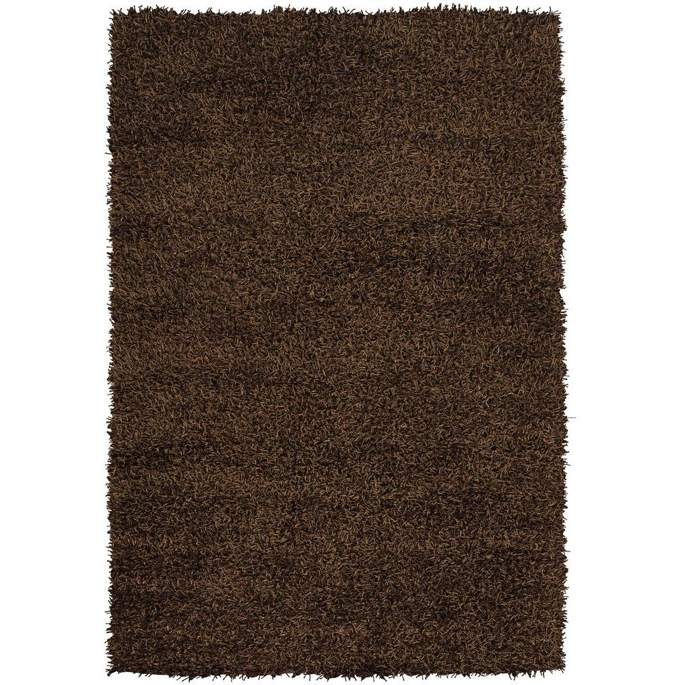 Chandra Zara Dark Brown 7 ft. 9 in. x 10 ft. 6 in. Indoor Area Rug