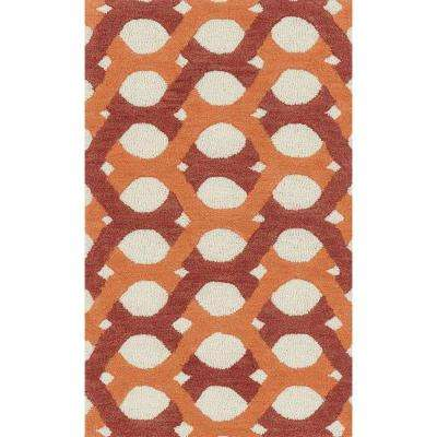 Weston Lifestyle Collection Red/Orange 2 ft. 3 in. x 3 ft. 9 in. Accent Rug