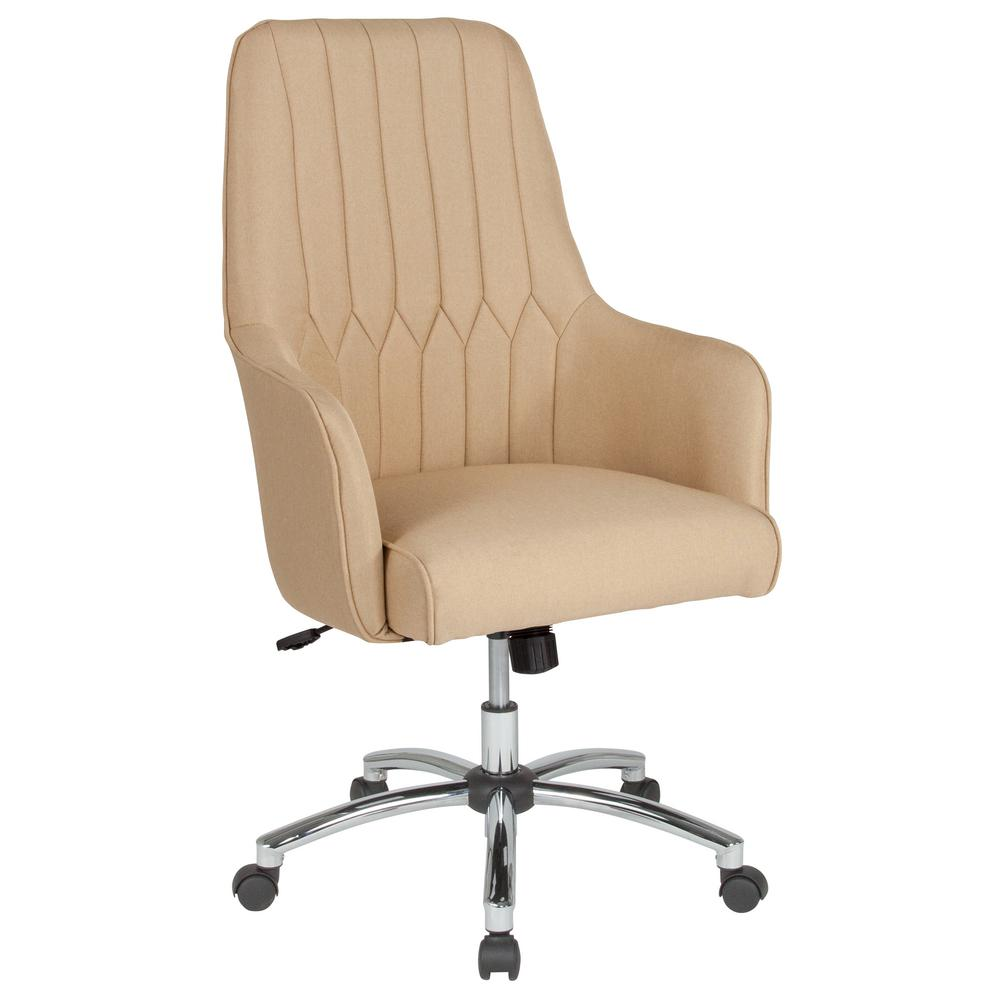 Flash Furniture Beige Fabric Office Desk Chair Cga Bt 232137 Be Hd The Home Depot