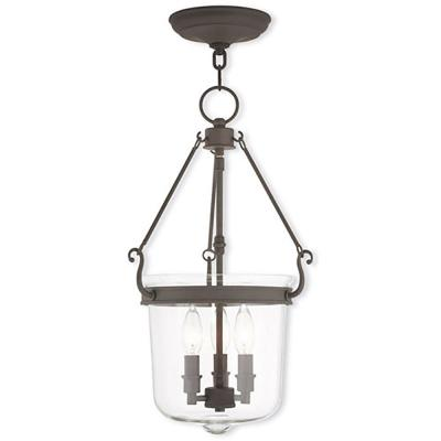 Rockford 3-Light Bronze Pendant