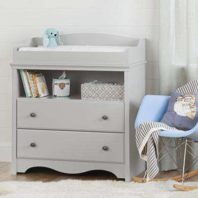 Angel 2-Drawer Soft Gray Changing Table