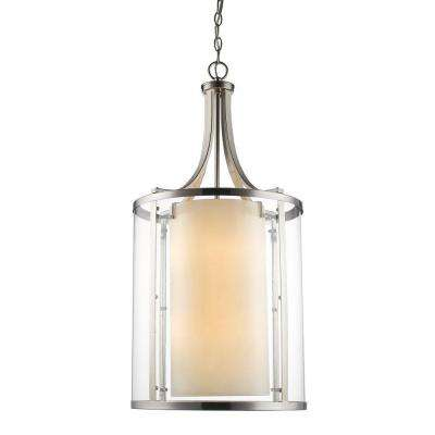 Christen 8-Light Brushed Nickel Pendant