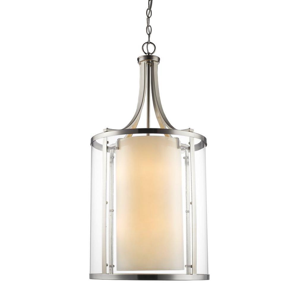 Christen 8-Light Brushed Nickel Pendant