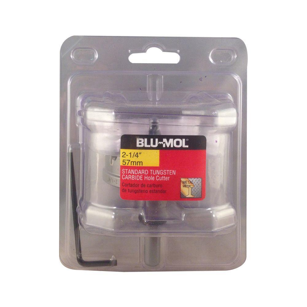 BLU-MOL 2-1/4 inch Standard Tungsten Carbide Hole Cutter by BLU-MOL