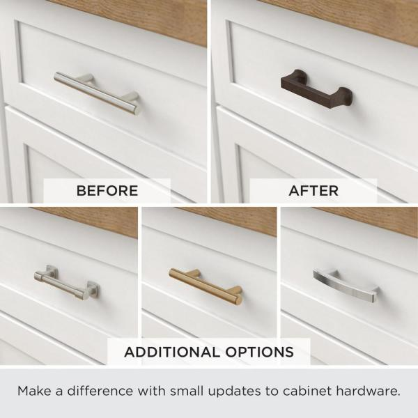 Matte Black Drawer Pull P40274c Fb Cp, Home Depot Hardware For Cabinets And Drawers
