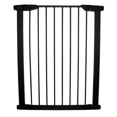 36 in. H x 29.5 in. to 32.5 in. W x 1 in. D Extra Tall Premium Pressure Gate Black