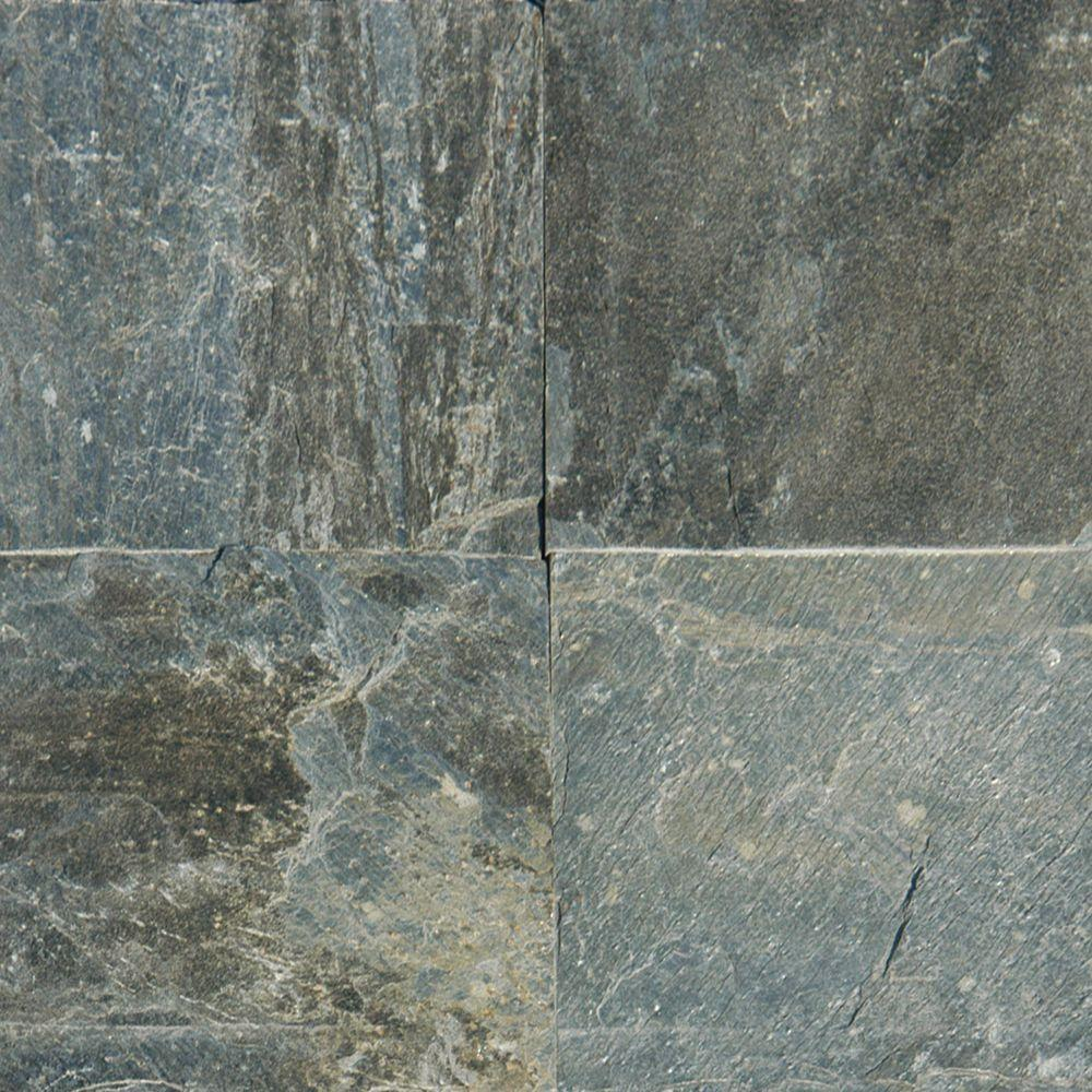MS International Gold Green 12 in. x 12 in. Honed Quartzite Floor ...