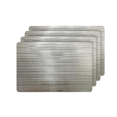 Emery Silver Metallic Reversible Rectangular Placemats (Set of 4)