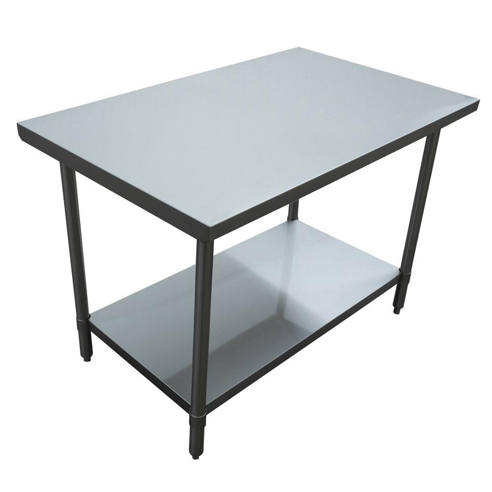 Kitchen Island Table Home Depot: Excalibur Stainless Steel Kitchen Utility Table