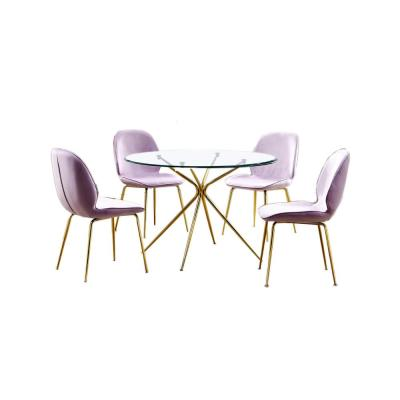 Preston 5 Pcs Dinette Set, Pink