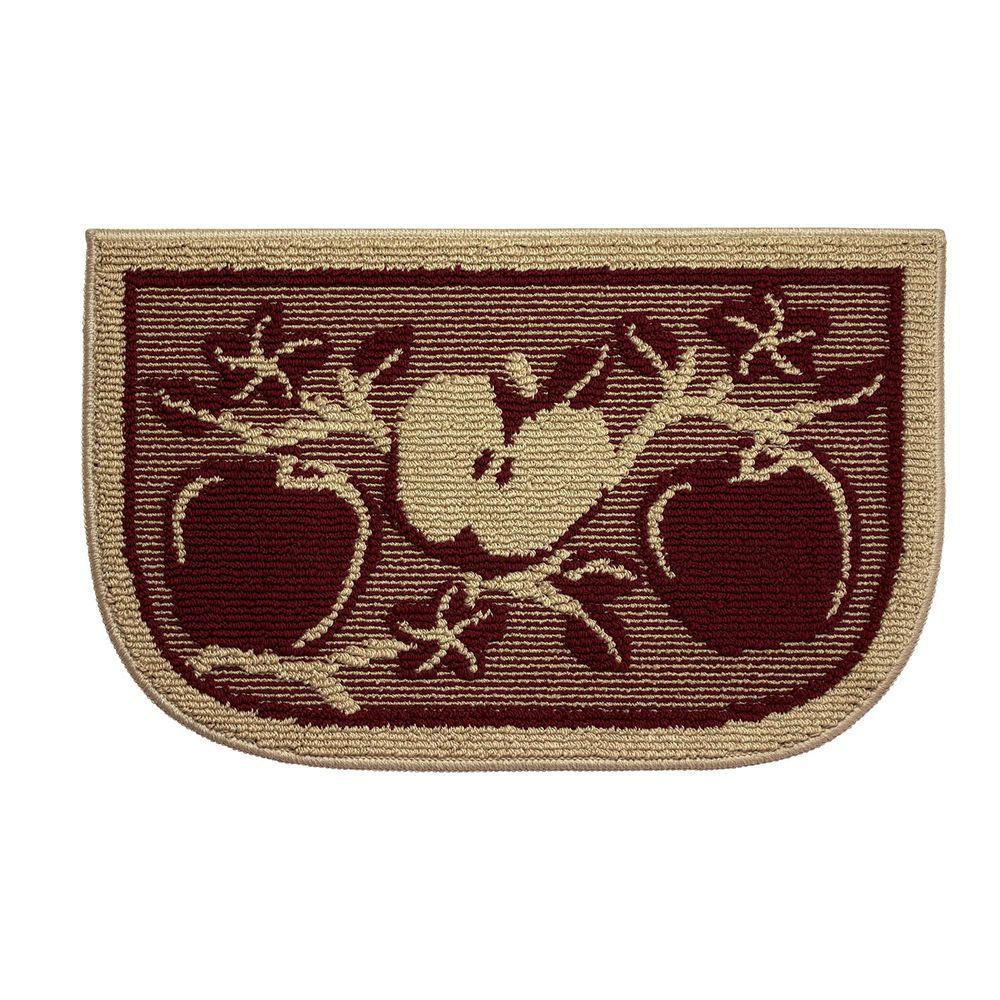 Structures Apple Orchard 18 In X 30 In Kitchen Rug