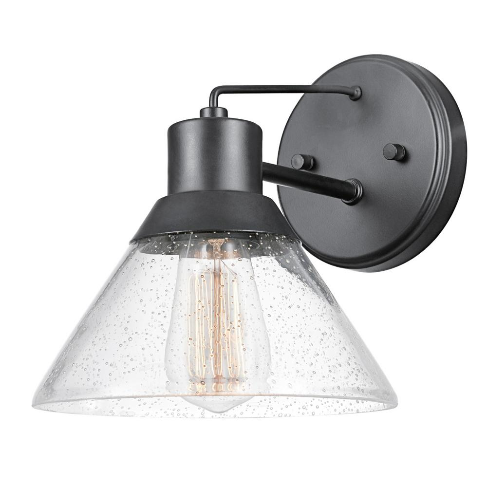 Wall Sconces Electric: Globe Electric Bolton 1-Light Matte Black Outdoor Indoor