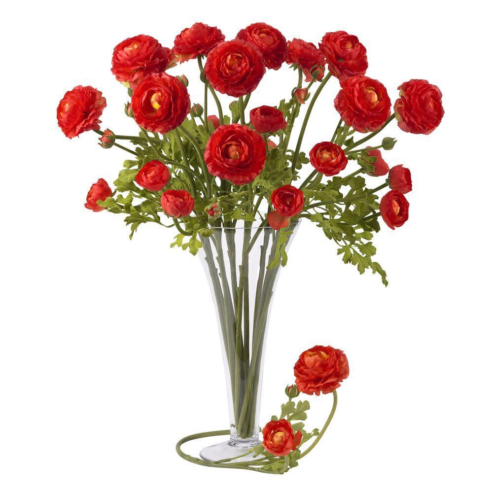 null 23 in. H Red Ranunculus Stem (Set of 12)