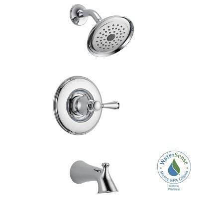 Silverton Single Handle 1 Spray Tub And Shower Faucet In Chrome (Valve  Included