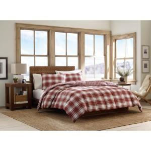 Edgewood 2-Piece Red Twin Duvet Cover Set