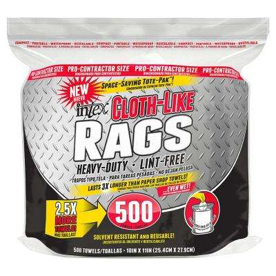 10 in. x 11 in. Intex Cloth-Like Rags (500-Count)