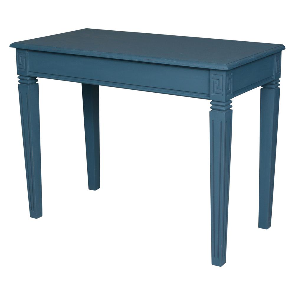 Ashbury Arte Antique Blue Oak Veneer Writing Desk