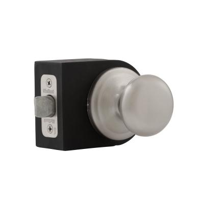 Juno Satin Nickel Passage Hall/Closet Door Knob with Microban Antimicrobial Technology