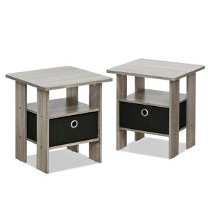 internet furinno home living french oak grey storage end table