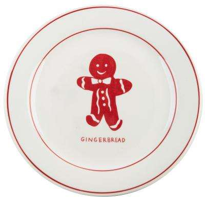Molly Hatch 8.5 in. D Gingerbread Salad Plate