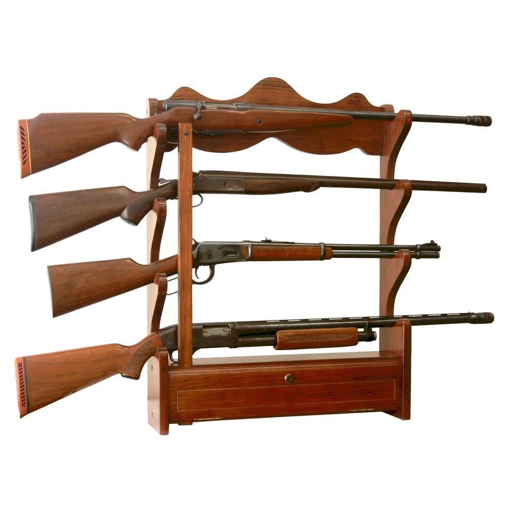American Furniture Classics 1.00 Cu. Ft. 4 Gun Wall Rack