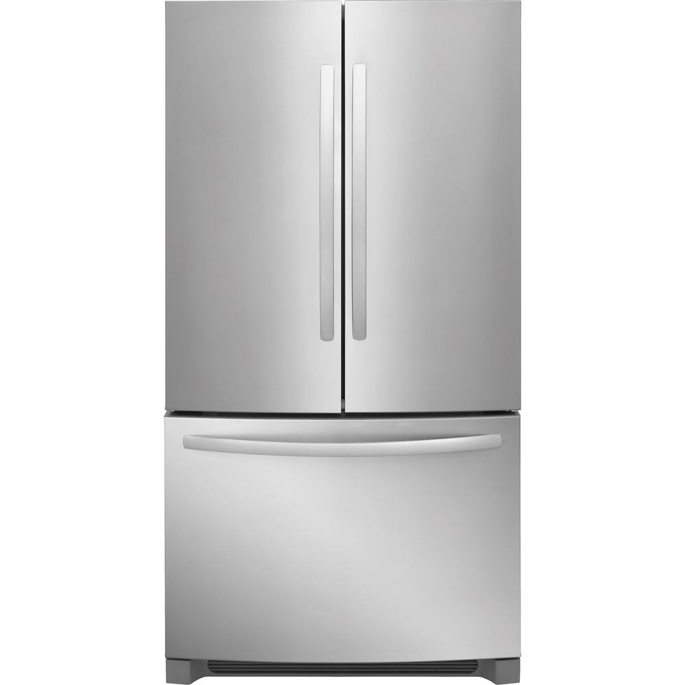 Frigidaire 27.6 Cu. Ft. Non Dispenser French Door Refrigerator In Stainless  Steel,