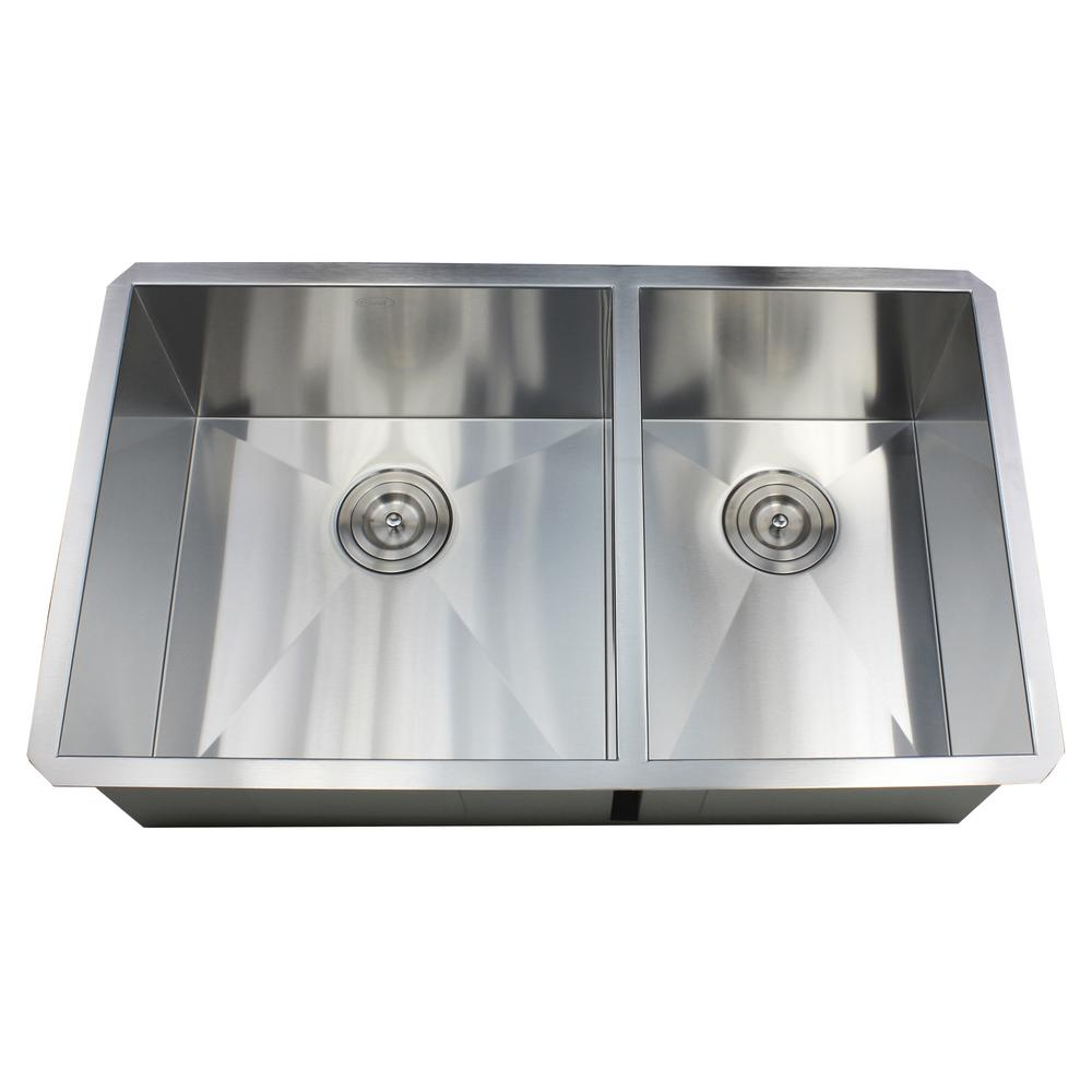Kingsman Hardware Undermount 32 In X 19 10 Deep Stainless