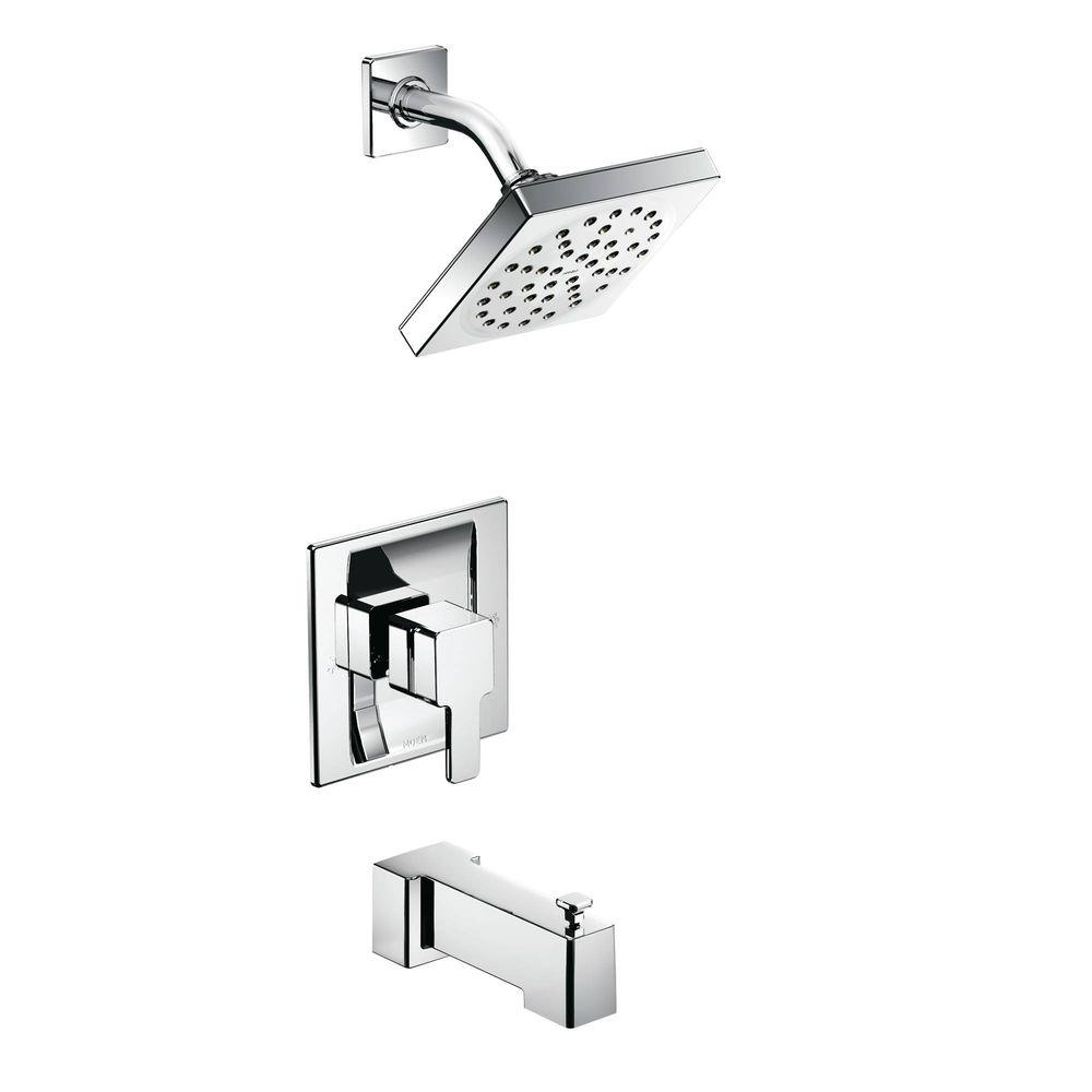 MOEN 90 Degree Posi Temp 1 Handle Tub And Shower Trim Kit In Chrome (Valve  Not Included) TS2713   The Home Depot