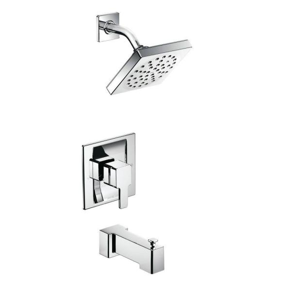 90 Degree Posi-Temp Single-Handle Tub and Shower Trim Kit in Chrome (Valve Not Included)