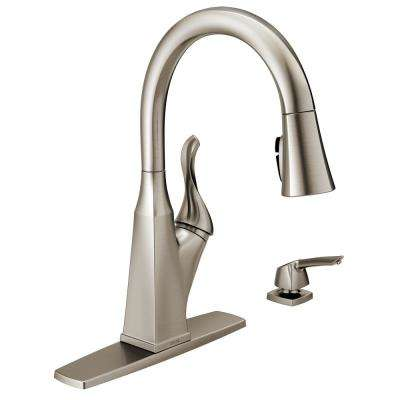 Everly Single-Handle Pull-Down Sprayer Kitchen Faucet with ShieldSpray Technology in SpotShield Stainless
